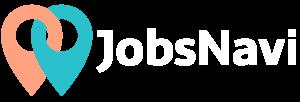 JobsNavi Pins neben Schriftzug weiß transparent
