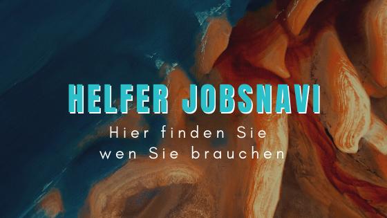 Titelbild Helfer JobsNavi für Unternehmen - jetzt Mitarbeiter finden