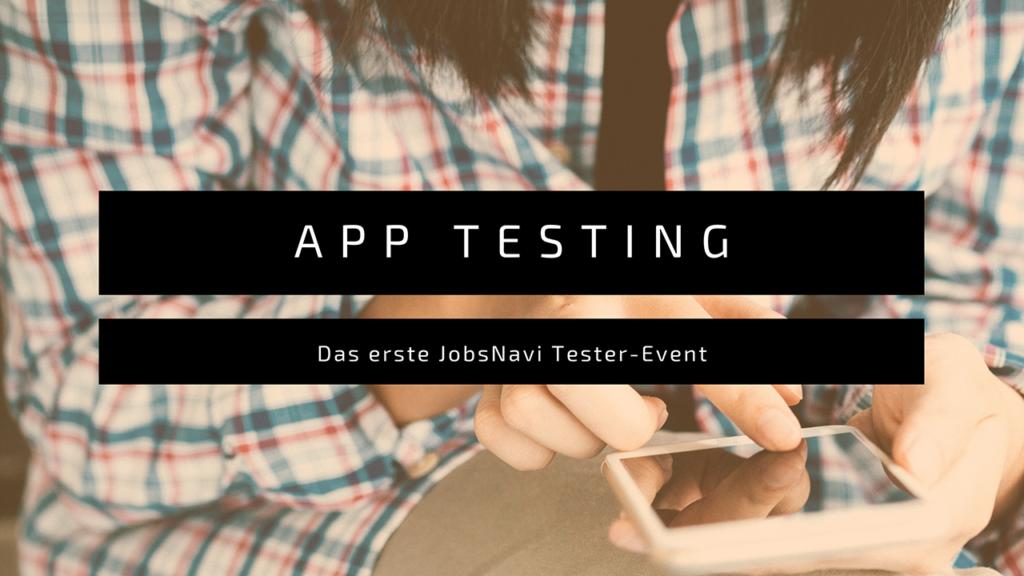 JobsNavi erstes Testing Event
